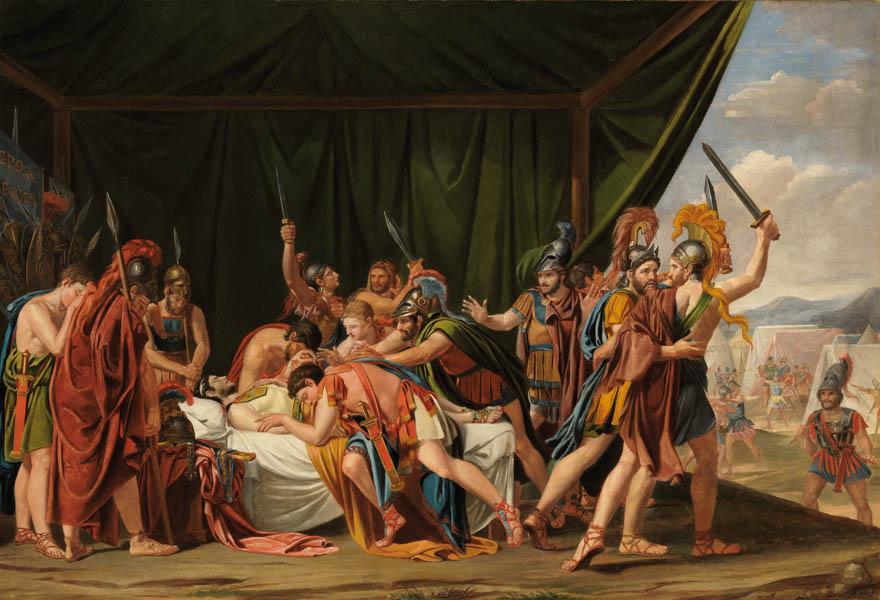 Muerte de Viriato, obra de José de Madrazo