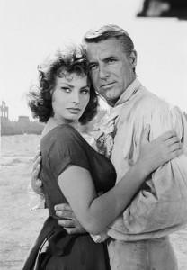 Sophia Loren y Cary Grant se conocieron durante el rodaje en Segovia