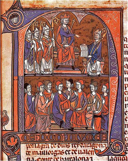 Jaime I recibiendo al obispo Vidal de Canellas