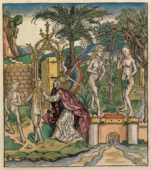 530px-Nuremberg_chronicles temptation of adam and eve