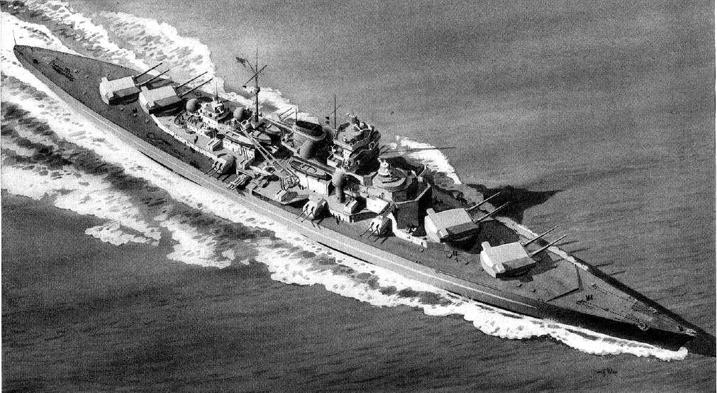 El colosal acorazado alemán Tirpitz