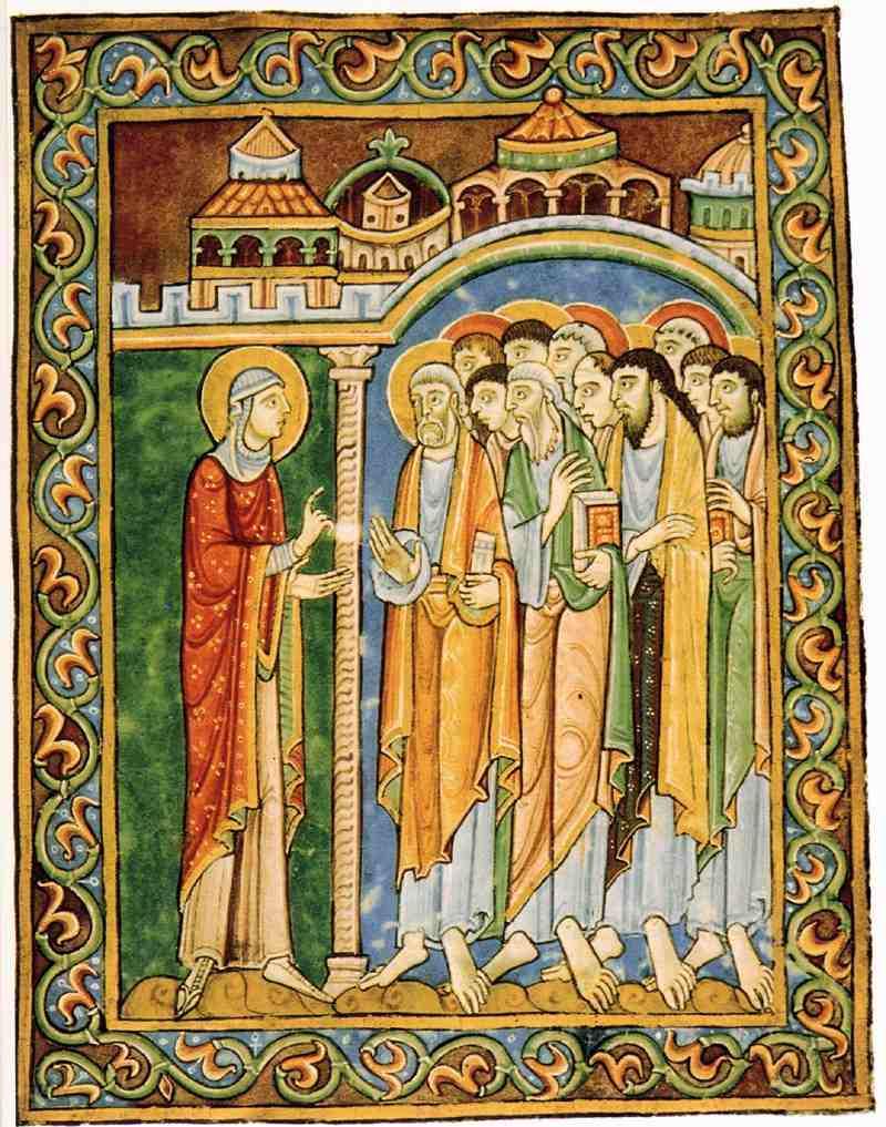 María Magdalena anuncia la Resurrección a los Apóstoles. 1120–1145.